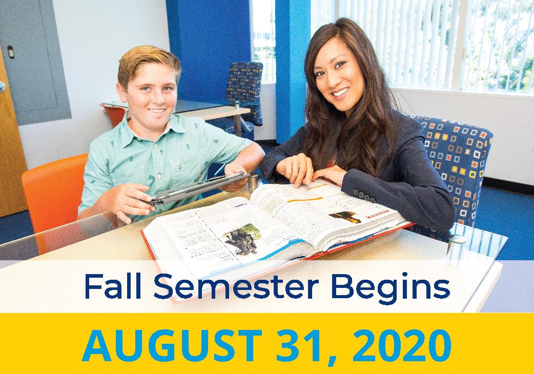 Fall 2020 Semester Begins